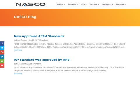 Screenshot of Blog nascoinc.com - Blog - NASCO Industries - captured Sept. 24, 2018