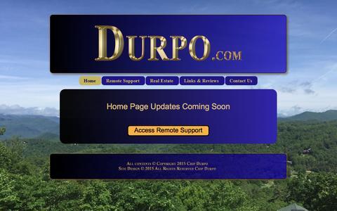 Screenshot of Home Page durpo.com - Home - captured June 25, 2016