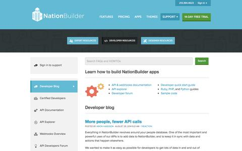 Screenshot of Developers Page nationbuilder.com - NationBuilder Developers - captured Sept. 16, 2014