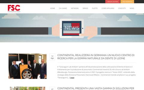 Screenshot of Press Page f-s-c.it - News | FSC | Franchising Service Company - captured June 23, 2019