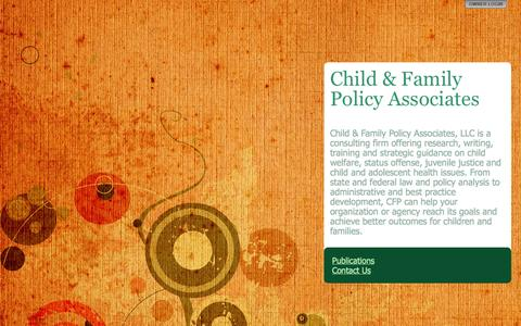 Screenshot of About Page childfamilypolicy.com - Child & Family Policy Associates - captured Oct. 2, 2014