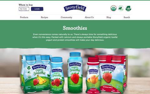 Organic Smoothies | Stonyfield