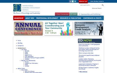 Screenshot of Site Map Page iedconline.org - International Economic Development Council - International Economic Development Council - captured Oct. 3, 2014