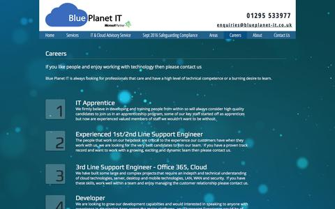 Screenshot of Jobs Page blueplanet-it.co.uk - Blue Planet IT Support and Services | Careers - captured Nov. 22, 2016
