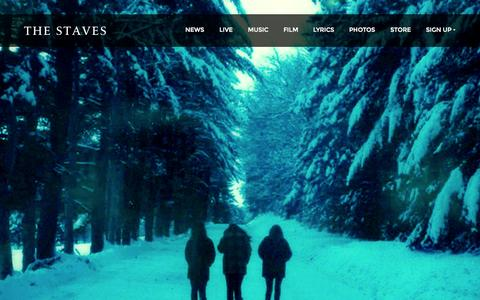 Screenshot of Home Page thestaves.com - The Staves - official website - captured Sept. 3, 2015