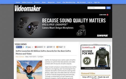 Screenshot of Press Page videomaker.com - Video News   Videomaker.com - captured Oct. 21, 2015
