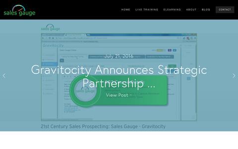 Screenshot of Blog sales-gauge.com - Sales Gauge Blog — Sales Gauge Sales Training - captured July 21, 2016