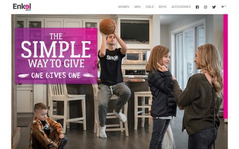 Screenshot of Home Page enkelapparel.com - Home - Enkel Apparel - captured July 19, 2018