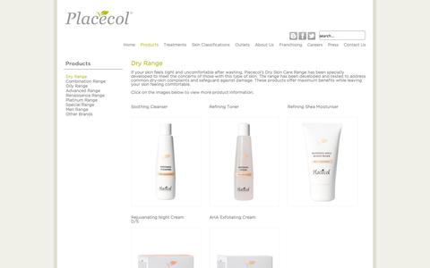 Screenshot of Products Page placecol.com - Dry Range | Placecol - captured Oct. 2, 2014