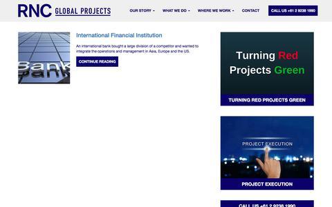 Screenshot of Case Studies Page rncglobal.com - Case Studies - RNC Global ProjectsRNC Global Projects - captured July 5, 2017
