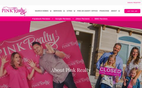 Screenshot of About Page pinkrealty.com - About Pink Realty | Pink Realty Headquarters - captured July 18, 2018