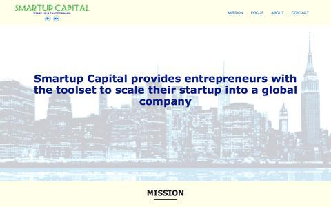 Screenshot of Home Page smartupcapital.com - Smartup Capital | Start Up & Fast forward - captured Dec. 20, 2016