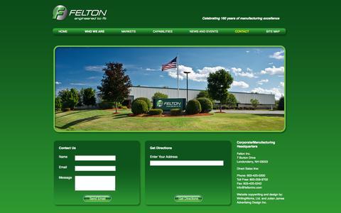 Screenshot of Contact Page feltoninc.com - Contact ~ Felton, Inc. - captured Sept. 30, 2014