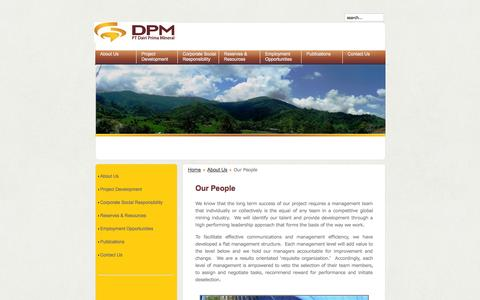 Screenshot of Team Page ptdpm.co.id - Our People - captured Oct. 1, 2014