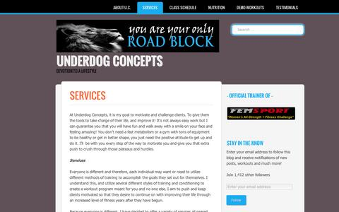 Screenshot of About Page wordpress.com - Underdog Concepts | Services - captured Sept. 12, 2014