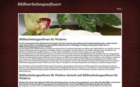 Screenshot of Home Page bildbearbeitungssoftware.yolasite.com - bildbearbeitungssoftware - captured Oct. 14, 2018