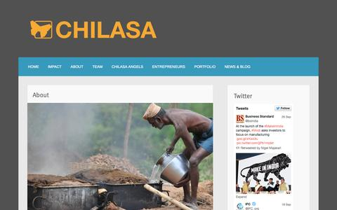 Screenshot of About Page chilasa.org - About | - captured Oct. 2, 2014