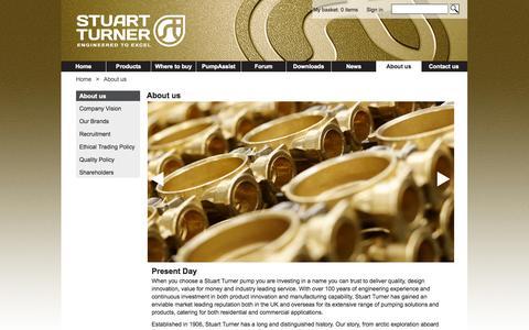 Screenshot of About Page stuart-turner.co.uk - Stuart Turner Shower Pumps – Stuart Turner Pumps - captured Oct. 8, 2014