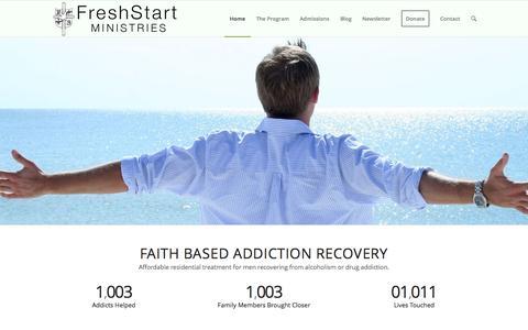 Screenshot of Home Page freshstartministries.com - Home   Fresh Start Ministries - captured Sept. 11, 2015