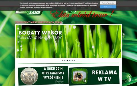 Screenshot of Home Page agro-land.eu - AGRO-LAND s.c. - PRODUCENT MIESZANEK TRAW - captured Oct. 11, 2015