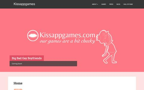 Screenshot of Home Page kissappgames.com - KissAppGames   Games that are slightly wicked - captured Jan. 9, 2016