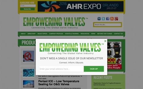 Screenshot of Products Page empoweringvalves.com - Products Archive - Empowering Valves - captured Dec. 9, 2015