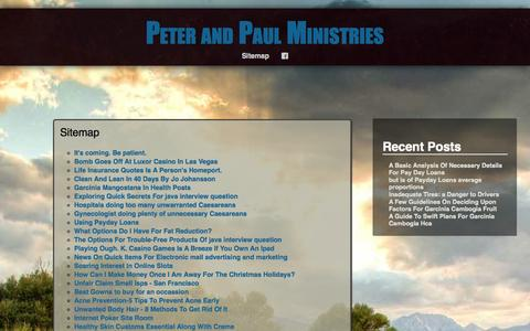Screenshot of Site Map Page peterandpaulministries.com - Sitemap | - captured Sept. 29, 2014
