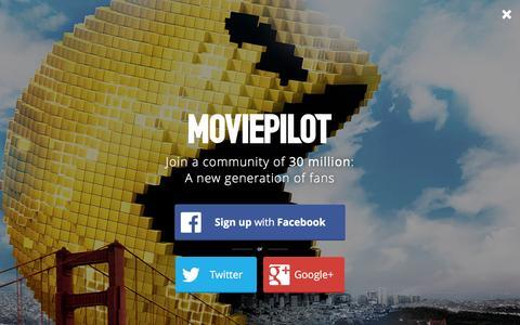 Screenshot of Login Page moviepilot.com - A New Generation of Fans | moviepilot.com - captured Jan. 26, 2016