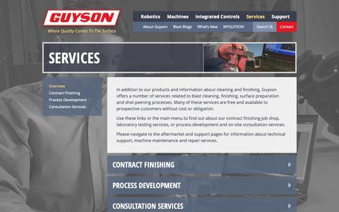 Screenshot of Services Page guyson.com - Services   Guyson - captured Dec. 16, 2018