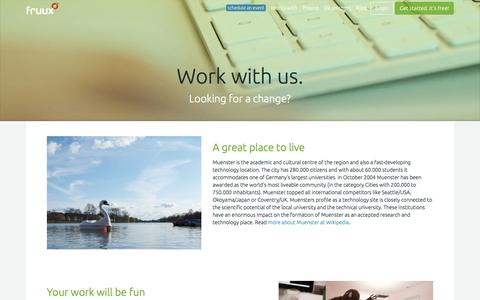 Screenshot of Jobs Page fruux.com - fruux | jobs - captured June 16, 2015