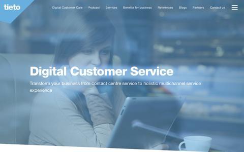 Screenshot of Support Page tieto.com - Customer Service | Tieto - captured June 27, 2017