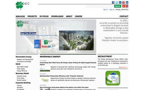 Screenshot of Signup Page edec.org.vn - .:: Home - captured Sept. 28, 2015