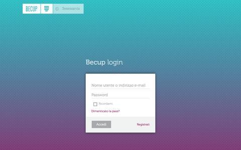 Screenshot of Login Page 3esessanta.com - Profilo utente | 3esessanta.com - captured Oct. 7, 2014