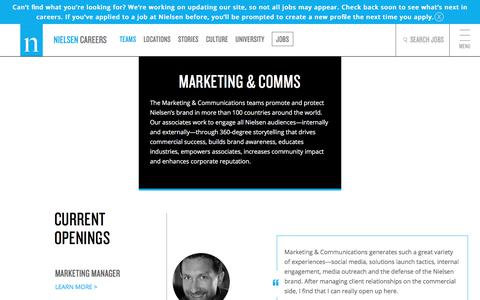 Marketing & Communications | Nielsen Careers