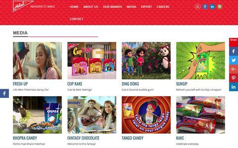 Screenshot of Press Page hilalfoods.com.pk - Hilal Foods Pvt. Limited Media   Hilal Foods - captured Sept. 28, 2018