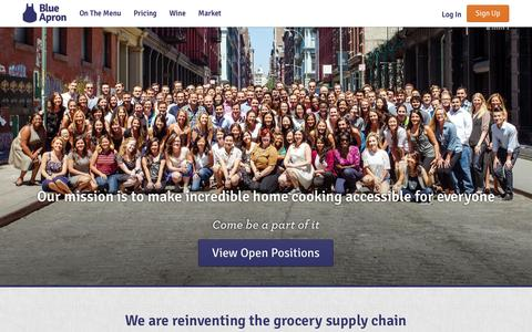 Screenshot of Team Page blueapron.com - Blue Apron: Fresh Ingredients, Original Recipes, Delivered to You - captured Nov. 26, 2015