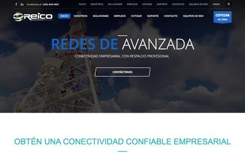 Screenshot of Home Page reicocr.com - Reico – Conectividad Empresarial - captured Feb. 14, 2016