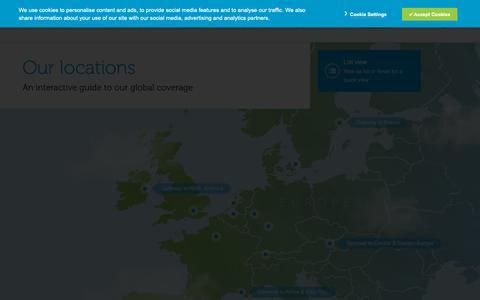 Screenshot of Locations Page interxion.com - Our Data Centre Service Locations | Interxion - captured June 3, 2019