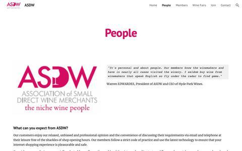 Screenshot of Team Page google.com - ASDW - People - captured Oct. 28, 2018