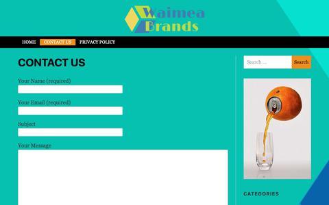 Screenshot of Contact Page waimeabrands.com - Contact us - Waimea Brands - captured Oct. 19, 2018