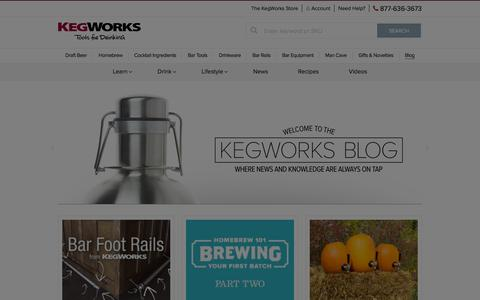 Screenshot of Blog kegworks.com - KegWorks Blog - Tools For Drinking - captured Oct. 14, 2015