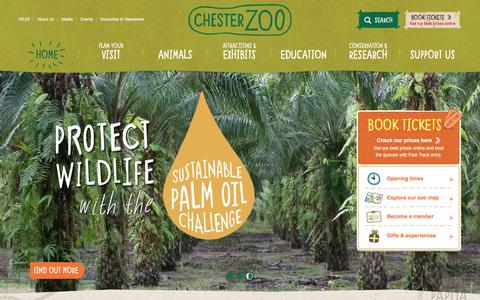 Screenshot of Home Page chesterzoo.org - Islands at Chester Zoo | Extraordinary discoveries, every day - captured Dec. 6, 2015