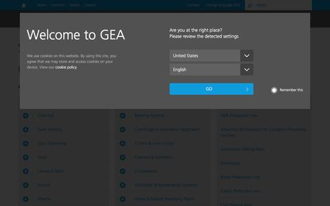 Screenshot of Site Map Page gea.com - GEA | sitemap - captured April 28, 2017