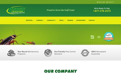 Screenshot of About Page brockpest.com - Brock Lawn and Pest Control   ECO Pest Control, Termite Control and a Professional Pest Control Company - captured Feb. 8, 2016