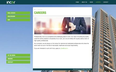 Screenshot of Jobs Page incor.in - Incor | Careers - captured Nov. 18, 2016