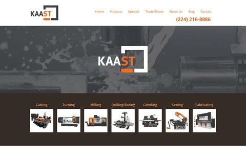 Screenshot of Home Page kaast-usa.com - KAAST Machine Tools | High quality machine tools - captured Sept. 6, 2015