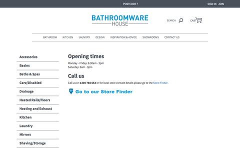 Contact Us | Bathroomware House