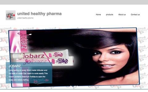 Screenshot of Home Page Menu Page unitedhealthypharma.com - united healthy pharma   united healthy pharma - captured Oct. 9, 2014