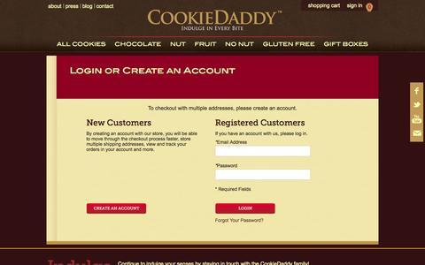 Screenshot of Login Page cookiedaddy.com - Customer Login - captured Sept. 30, 2014