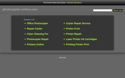 Screenshot of Home Page photocopier-online.com - Photocopier-Online.com - captured Feb. 1, 2018